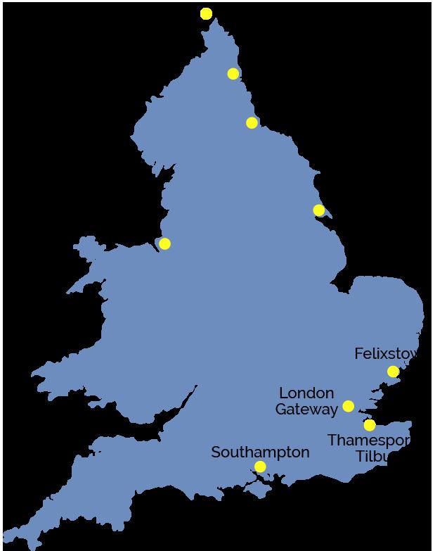 Caravel Liner Agencies Map